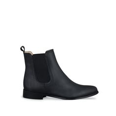 Brando Black Leather ankle-boots