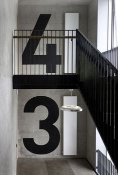 Typography in stairwell