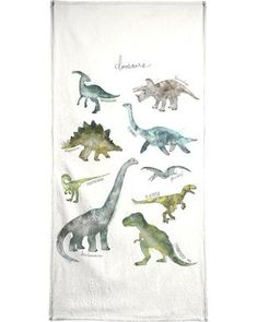 Dinosaurs - Amy Hamilton - Handdoek