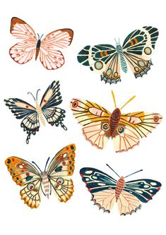 The Design- - A playful Woodland design featuring all the best butterfly and Mot... -