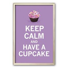 Keep Calm and Eat Cupcakes Cross Stitch Pattern Cupcake Kunst, Cupcake Art, Cupcake Cakes, Cup Cakes, Lavender Cupcakes, Love Cupcakes, Purple Cupcakes, Beautiful Cupcakes, Yummy Cupcakes
