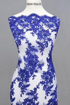 Koronka 10186 GEM Doskonała na suknie koktajlowe lub wieczorowe. Idealna dla druhen, świetnie prezentuje się na przyjęciach weselnych,studniówkach lub balach sylwestrowych.