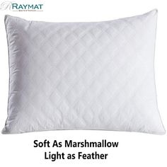 The micro-fiber pillow is a real treat to sleep on - marshmallow soft and beautiful light. Down Pillows, Bed Pillows, Feather Pillows, Quilts For Sale, Sale Uk, Beautiful Lights, Different Patterns, Marshmallow, Duvet