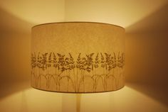 Embroidered Grass Lampshade.