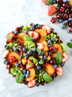 No-Bake Chocolate and Summer Fruit Tart | 17 No-Bake Desserts To Bring To A Picnic, Party, Or Potluck