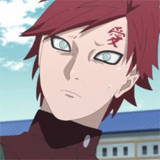 Gaara alway look good, no matter what face he makes, am I right? <3