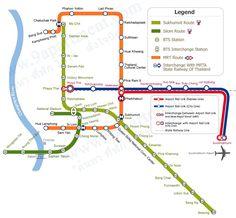 Bangkok BTS MRT map