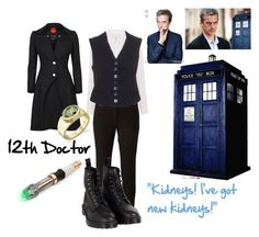 """Doctor Who, the Twelfth Doctor"" by loulouflowerpower ❤ liked on Polyvore featuring Walter Baker, Joseph, Ann Demeulemeester, Dr. Martens and Vivienne Westwood"