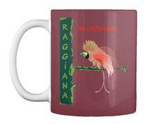 Bird Of Paradise Raggiana Maroon Mug Front