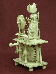 Napoleonic Prisoner Of War Bone Automated Spinning Jenny