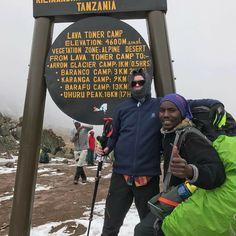 Joakim Stafsén at The Top of Mt Kilimanjaro Lava Tower Tanzania