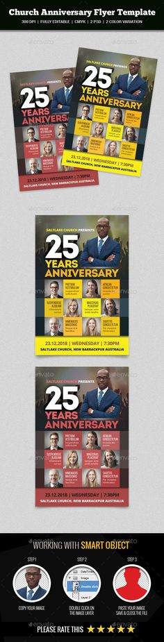 Church Anniversary Flyer Template PSD