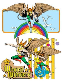 The Winged Wonders by José Luis García-López from the 1982 DC Comics Style Guide
