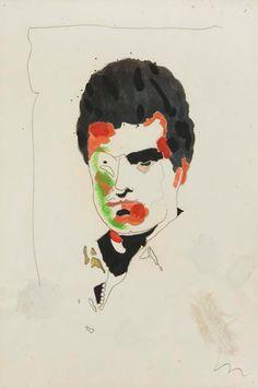 Roberto Piva, brazilian writer. Portrait by Wesley Duke Lee.
