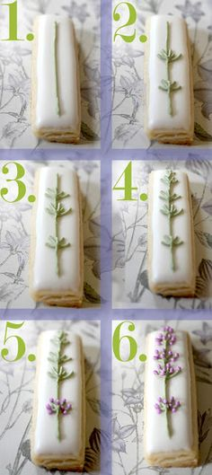 DIY decorating so easy, so beautiful,    I'll be putting these on some Lavender Lemon Shortbread soon!