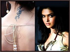 #Deepika with her RK tattoo