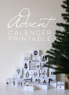 Christmas advent calendar countdown printable >>> would be a great ADVENT calendar to send a deployed loved one ♥
