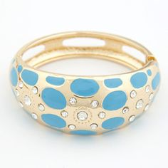 Multicolor Gold Silver Metal Zirconia #bracelets & #bangles Flower Wide 2014 N #jewelry ...