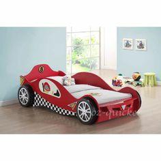 Niños Coche de Carreras Cama Individual Talla 3 dwheel Niños Ropa de cama de carrera de dormitorio Muebles