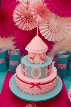 """Photo 3 of 12: carnival party / Birthday """"Kaitlin's Pretty in Pink 1st Birthday"""" 