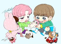 Image uploaded by Vkook_and_Yoonmin. Find images and videos about bts, jungkook and v on We Heart It - the app to get lost in what you love. Bts Chibi, Jikook, Namjin, Yoonmin, Fan Art, Bts Cute, Fanart Bts, Bts Maknae Line, Bts Drawings
