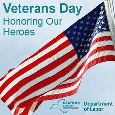 Happy Veterans Day from the Department of Labor  Proudly offering Priority of Service to veterans every day! Learn more: www.labor.ny.gov/vets