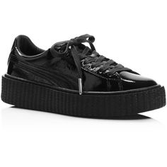 Fenty Puma x Rihanna Women s Patent Leather Creeper Platform Sneakers  ( 160) ❤ liked on Polyvore featuring shoes 48057a5a1a793