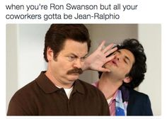 Funny quotes from movies parks and recreation 53 Super Ideas Parks And Recreation, Parks And Rec Memes, Parks And Recs, Ron Swanson Quotes, Jean Ralphio, I Love To Laugh, My Tumblr, My Guy, Just For Laughs