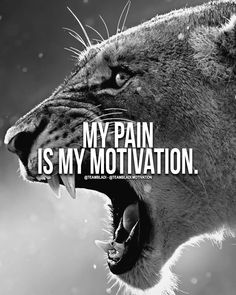 My pain is my motivation! Lion Quotes, Wolf Quotes, Wisdom Quotes, True Quotes, Best Quotes, Qoutes, Motivational Quotes Wallpaper, Motivational Posters, Inspirational Quotes