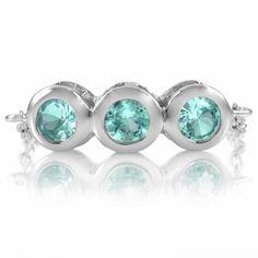 blue chain link ring.    www.DangleDangle.com