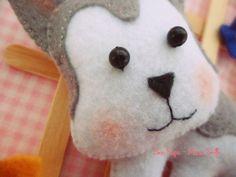 Husky Siberiano - Modelo Barbara HandMade adaptado