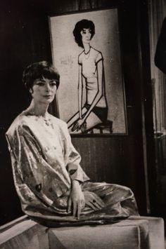 Annabel et son portrait par Bernard Buffet