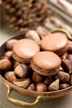 ♂ Food photography #still life #styling #sweet chocolate chestnut macarons