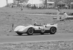 For the June 1964 USRRC race at Watkins Glen, an external transmission oil cooler was mounted on the rear spoiler and plumbed through the transom. Hall lapped the entire field on his way to a win. This was the 3rd race with the single-speed torque converter transmission. Stan Rosenthall photo.