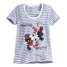 Mickey and Minnie Mouse Striped Tee for Women -Size XL (16-18) NWT Disney #Disney #Tee #Casual