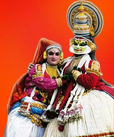 Kathakali is a classical dance form in Kerala, India.