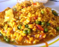 arroz con pollo Couscous, Quinoa, Chana Masala, Paella, Menu, Vegetables, Ethnic Recipes, Food, Drinks