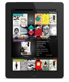 Bookshelf - eBook store & reader app by Morning, via Behance