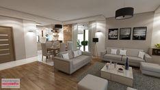 Wnętrze domu inspirowane stylem skandynawskim skandynawski salon od marengo architektura wnętrz skandynawski   homify Open Plan Kitchen Living Room, Living Room Decor Cozy, Tv Unit, Living Room Designs, Interior, Inspiration, Furniture, Home Decor, Style