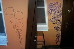 This Mom Turned Her Kids Wall Scribbles Into Art.