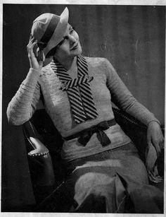1936 Monarch The Westmount 1930s Fashion, Vintage Fashion, Knit Or Crochet, Vintage Knitting, Vintage Patterns, Kitsch, Fashion Photo, Rockabilly, Vintage Ladies