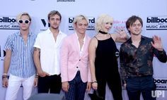 Music group R5 attends the annual Billboard Music Awards held at T-Mobile Arena in Las Vegas, Nevada on May 21, 2017. This year's show will…
