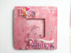 Princess Picture Frame Girls Decoupaged Frame Kids Decor