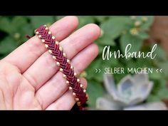 Macrame bracelet knot (with pearls) Macrame Knots, Macrame Jewelry, Macrame Bracelets, Loom Bracelets, Diy Jewelry Tutorials, Diy Jewelry Making, Bead Crafts, Jewelry Crafts, Micro Macrame Tutorial