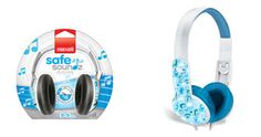 Maxell Safe Soundz Headphones Boys Ages 3-5    Designed for 3-5 years of age with a smaller headband for ultimate fit  75 Decibels Maximum Sound output provides safe listening level  Features durable plastic headband and non-removable earpads