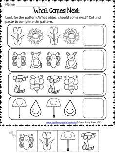 Spring Patterns Worksheets