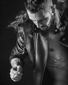 Dark Face of Mercury leathermen in a curated dark aesthetics