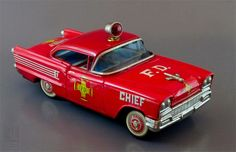 vintage fire chief car - by Japan
