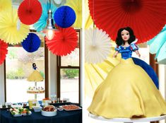 Snow White Birthday Cake and Party Ideas #SnowWhite #partyFood