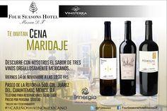 ¡Ve apartando la fecha! #CenaMaridaje #VinosMexicanos @Trinergia #Reforma500